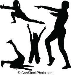 gymnastics silhouette vector