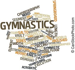 Gymnastics - Abstract word cloud for Gymnastics with related...