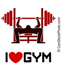 gymnastiksal, kärlek, symbol