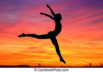 gymnastique, ciel