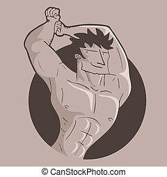 gymnastique, icône