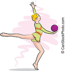 gymnastique rythmique, balle, -