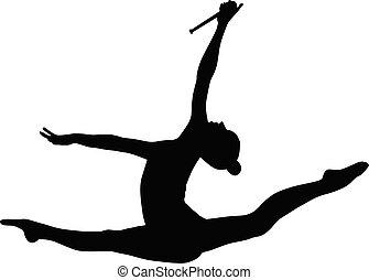 gymnastique rythmique, cônes