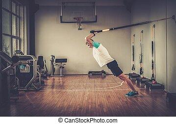 gym's, προπόνηση , ακονίζω ξυράφι , στούντιο , ελκυστικός , ανακοπή , κατά την διάρκεια , άντραs