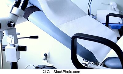 Gynecological chair in medical clinic HD