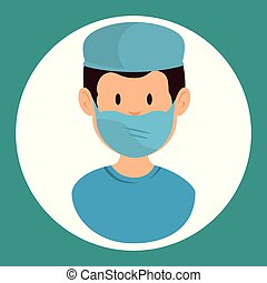 gynecologist man doctor vector illustration graphic design