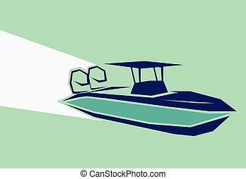 gyorsan, csónakázik