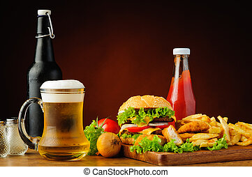 gyorsan elkészíthető étel, étrend, és, sör