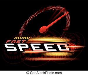 gyorsan, gyorsaság, fogalom, vektor