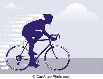 gyorsan, kerékpáros