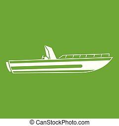 gyorsaság, zöld, autózik hajózik, ikon