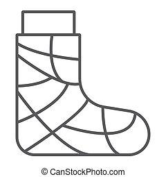 gypse, linéaire, signe, modèle, pieds, arrière-plan., ...