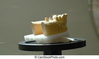 gypse, scanner, mesurer, 3d, haut, balayage, -, dentaire, ...