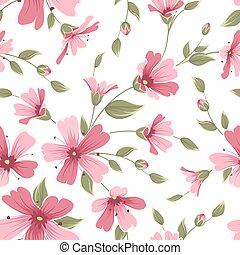 Gypsophila babys breath flower pattern pink red - Gypsophila...