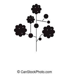 Gypsophila black vector concept icon. Gypsophila flat ...