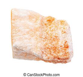 gypsum), (, isolé, non ciré, selenite, rocher
