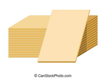 Gypsum sheets or drywall panels stack, building material - ...