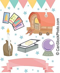 Gypsy Elements Group - Grouped Illustration of Items Usually...