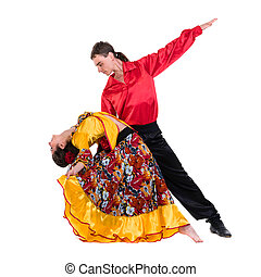 Gypsy flamenco dancer couple
