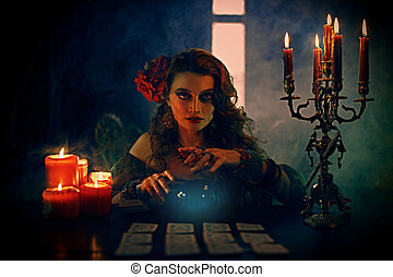 gypsy reading future - Magnificent fortune teller woman ...