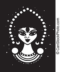 Gypsy Vector Clipart Design