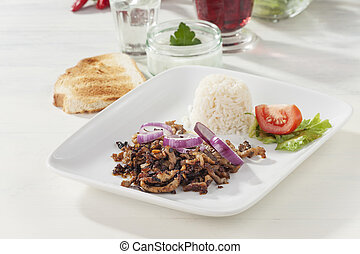gyros meat on a plate