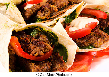 Gyros pita - Bunch of gyros pita
