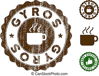 Gyros Stamp Seal with Dust Surface