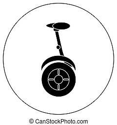 Gyroscope. Vector icons in a simple style. Element of...