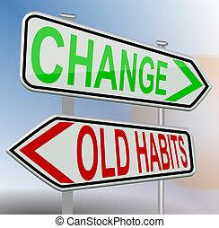 hábitos, cambio