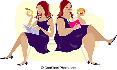 hábitos, comer