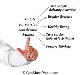 hábitos, físico, mental, condicão física