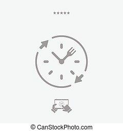 háló, élelmiszer, szilárd, -, vektor, szolgáltatás, ikon