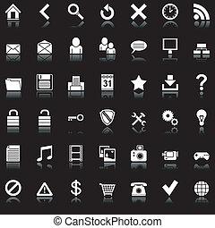 háló, icons.