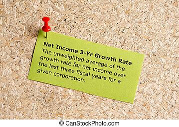 háló, jövedelem, 3, év, növekedési arány