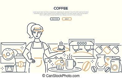 háló, kávécserje, modern, -, mód, tervezés, egyenes, transzparens