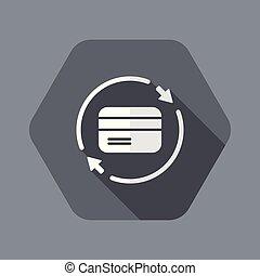 háló, szilárd, -, bankügylet, vektor, szolgáltatás, ikon