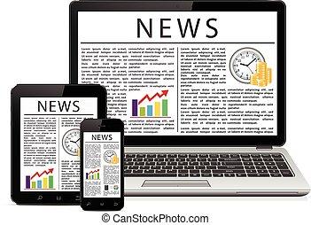 háló, touchscreen, smartphone, ügy, tabletta, ellenző, laptop, pc computer, hír