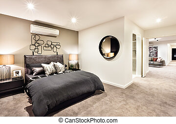 hálószoba, bejárat,  modern, Más, lakás