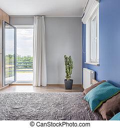 hálószoba, erkély