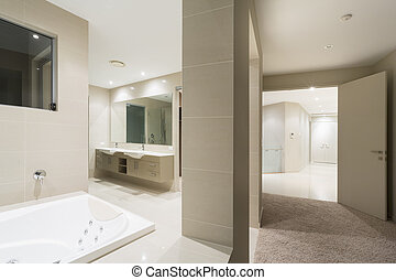 hálószoba, fiatalúr, fürdőkád