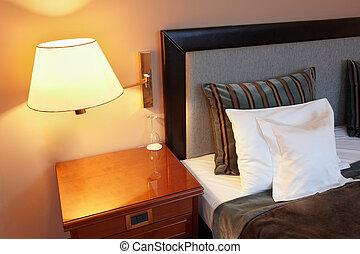hálószoba, vánkos, ágy