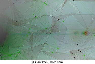 hálózat, noha, nodes, összekapcsolt, háttér., technológia, fogalom