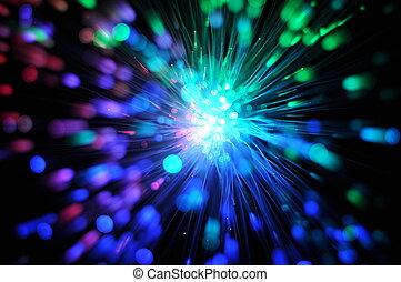 hálózat, rost, látási, kábel