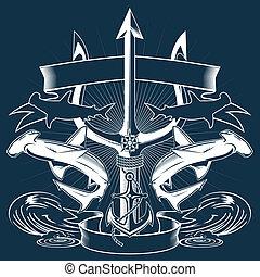 háromágú szigony, címer