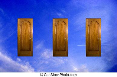 három, ajtók
