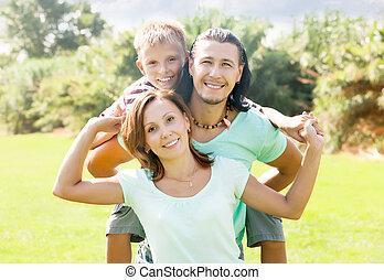 három, család, boldog