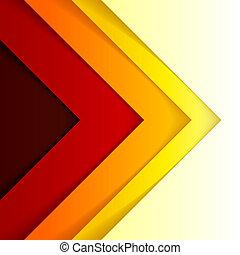 háromszög, elvont, alakzat, háttér, narancs, piros