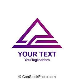 háromszög, elvont, tető, kreatív, vektor, tervezés, sablon, jel, element.