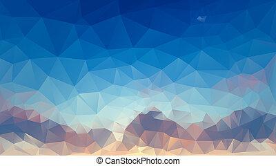 háromszög, mértan, elvont, poly, háttér, alacsony